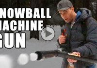 Make a snowball machine gun and own the snowball fights!
