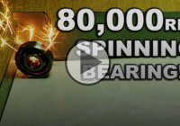 High Speed Bearing Spinning At An Extreme 80,000 RPM!