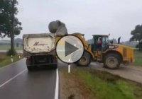 Loading A Huge Stone In A Truck – Fail Of Epic Proportions!