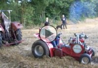 250 Hp Turbocharged Lawnmower Pulling A Tractor!
