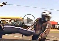 Biker Gets Knocked Off Motorcycle And Kicked By Trooper At Gunpoint!