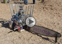 The Predator – A 300 HP V8 Chainsaw Cutting A 30-Inch Log In Less Than A Second!!
