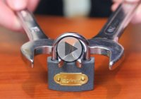 Misplaced The Key? Here's How To Open A Lock With A Pair Of Nut Wrenches.