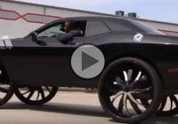 Are these 34″ wheels on this Challenger R/T cool or weird?