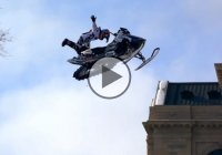 Extreme Urban Snowmobiling in Saint Paul by Levi LaVallee!