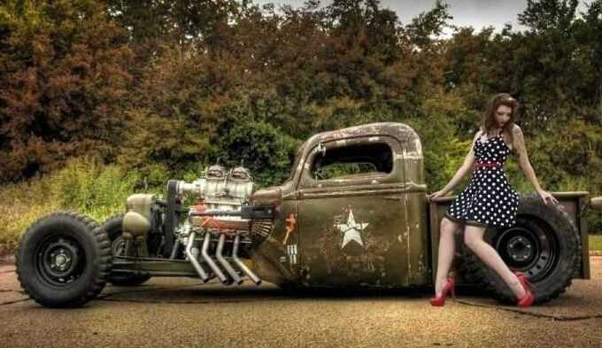 Custom US Army Rat Rod