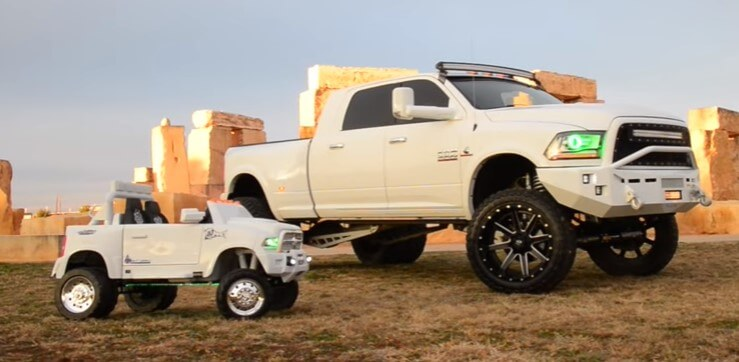 Dodge RAM dually and mini kiddie version