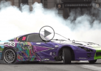 Evil Empire drifts the streets of St.Petersburg with a mean Supra
