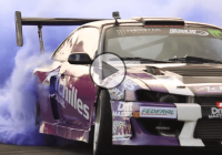 S14 Nissan Silvia making lots of purple smoke!