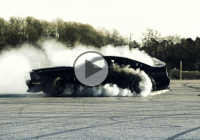 Ken Block who ? Mustang writes a message on asphalt with a drift!