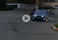 Tuned BMW E46 drifting on the streets