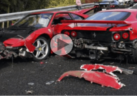 Luxurious graveyard of a 14-supercar pile up will make you cry!
