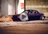 Slammed Mazda Miata drifts on a slippery road!!!