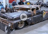 Wrecked Wrecker, a 1966 Chevy Rat Rod Tow Truck!