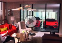 Special car elevator – park your car in the living room