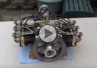 A Miniature Flat Six Engine – What An Excellent Craftsmanship!