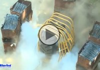 Tire Explosion – A Giant Tractor Tire Overinflated And Explodes!