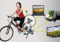 Bicycle Generator – Charge Your Cell Phone & Watch TV While You Work!