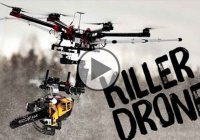 The Killer Drone – A Drone With A Chainsaw Attached!!