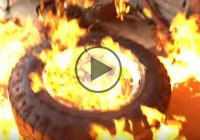 Tire Stretch Gone Wrong – Ends Up In Flames!!