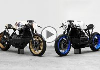 BMW K100 customed in two different ways – The double vision effect!