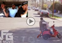 Bait Moped crazy prank ends in an even crazier knockout!!!