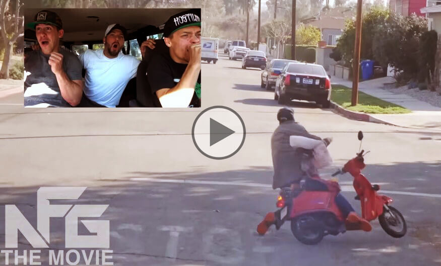 Bait Moped crazy prank