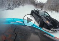 Drifting on snow in a Corvette C6 and a Supra! Only in Russia!
