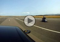Fastest mobility scooter beats a Nissan Skyline R33 in a 1/4 mile
