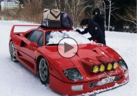 Ferrari F40 journey – Camping and snow drifting!!!