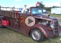 Firetruck Rat Rod at Cruisin' The Coast 2015!