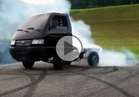 Hayabusa powered mini truck shredding tires like a pro!!!