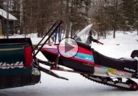 Homemade snowmobile loading system – simple and efficient!