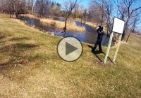 Honda CBR 1000RR goes for a swim into a pond – hilarious crash!!!