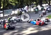 Horrible motorcycle crash takes down rides at Mere Hairpin