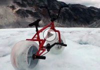 Ice wheeled bike – First in the world riding on a glacier!!!
