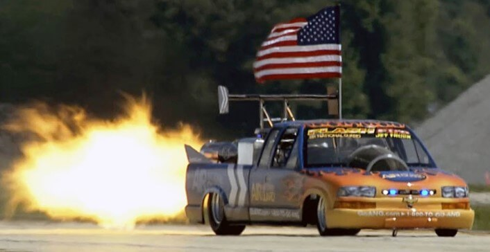 Jet powered Chevy