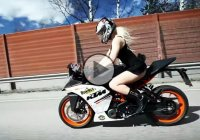 New KTM RC 390 ridden by Miss Bomber for the first time!!!