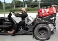 Trike biker gang is riding on the highway with style and grace!!!
