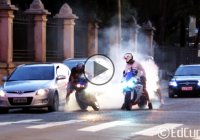 Yamaha R1 Squid embarrasses himself by failing a burnout!!!