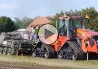 Tank vs. Tractor tug of war! The most extraordinary battle ever!