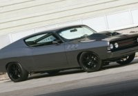 Sterling grey 1969 Ford Torino GT Fastback with Mustang wheels!