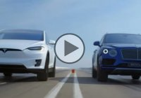 2017 Bentley Bentayga vs 2016 Tesla Model X P90D Ludicrous!