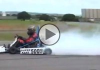 Turbocharged Go Kart Powered By An Insane 4-cylinder Turbo Engine!