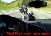 Audi R8 and 2 bikes in an adrenaline-pumping road race!