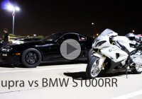 BMW 1000RR vs Toyota Supra – Battling it out the highway!