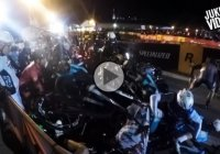Massive bike wreck caused by a misplaced motorcycle – CRAZY!!!