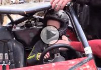 Persistent 7 year old behind the wheel of a rock bouncer!!