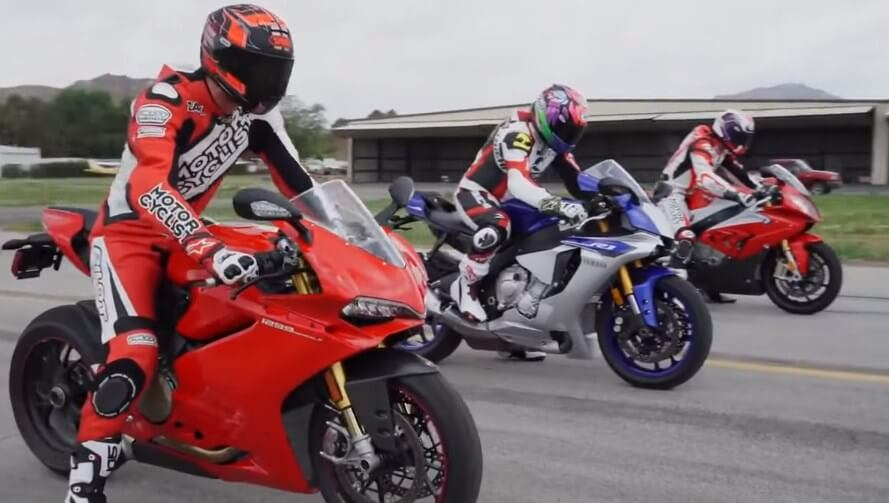 Three best superbikes