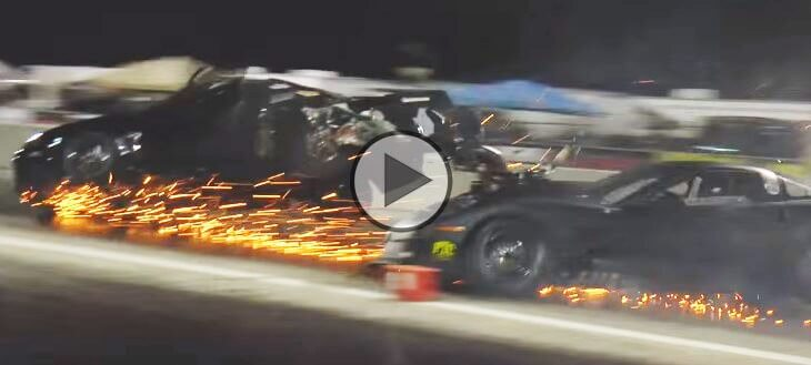 blown corvette crashes